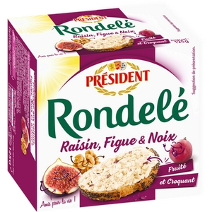 Président fromage rondelé raisin, figue et noix 125g