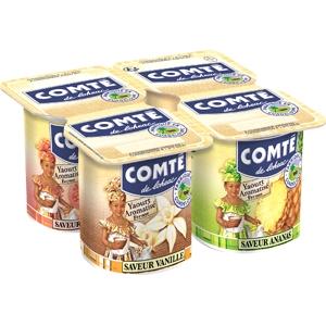 Comté yaourt aromatisés goyave vanille ananas 4x125g