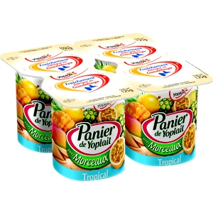 Panier de yoplait fruits tropicaux 4x125g