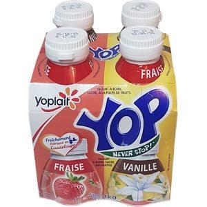 Yaourt à boire yop vanille-fraise 4x250g