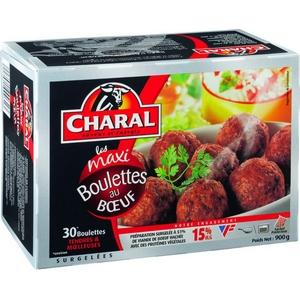 Charal maxi boulettes au bœuf 15%mg 30x30g