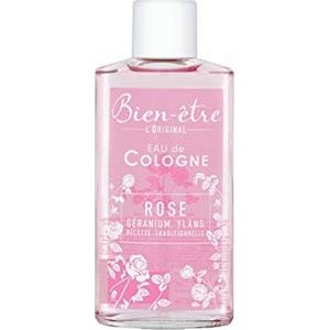 Bien-être eau de cologne rose géranium, ylang 70° 250ml