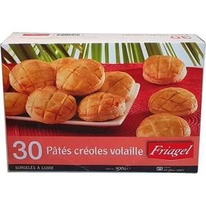 Friagel 30 pâtés créoles volaille 900g