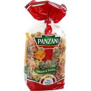 Panzani pâtes farfalle tomates et épinards 500g