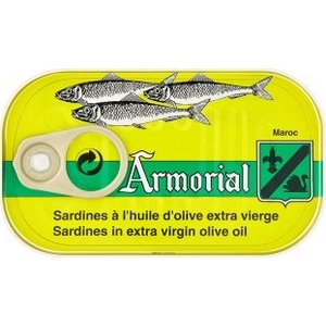Sardine à l'huile d'olive extra vierge armorial 120g