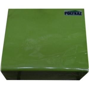 Polykaz serviettes papier 2 plis vert (pistache) 35/38/40 lot de 40