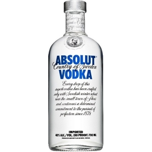 Eau de vie absolut vodka 40% vol. 700ml