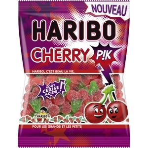 Haribo cherry pik goût cerise acide 120g