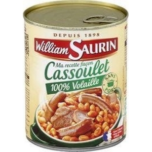 W. saurin cassoulet 100% volaille4/4 840g