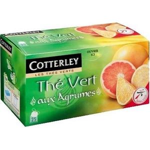 Cotterley thé vert aux agrumes 25 sachets