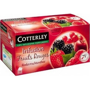 Cotterley infusion fruits rouges 25 sachets
