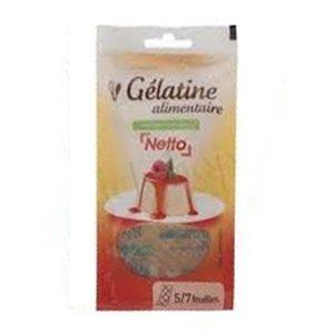 Netto gélatine alimentaire 125g (5 à 7 feuilles)