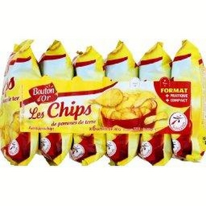 Bouton d'or chips nature 6x30g
