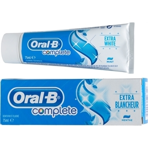 Dentifrice Oral B complete extra blancheur menthe 75ml