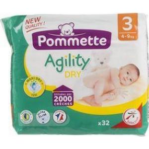 Pommette couches Agility 4-9kg x32