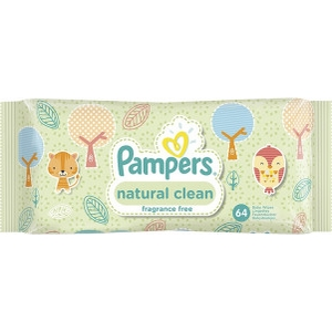 Pampers lingettes bébé natural clean x64