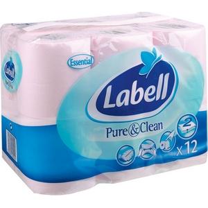 Labell papier toilette rose 12rlx