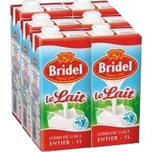 Bridel lait entier brique 6x1l