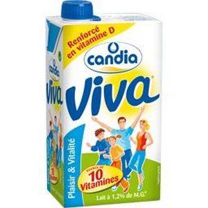 Candia viva 1/2 écrémé brique 1l