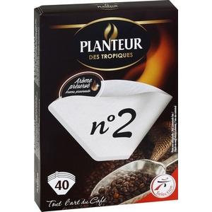Filtre à café planteur des tropiques n°2 x40