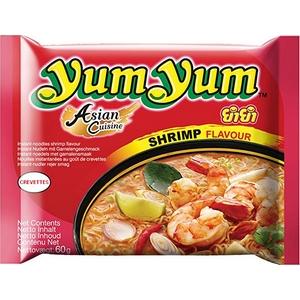 Yum Yum nouilles instantanées crevettes 60g