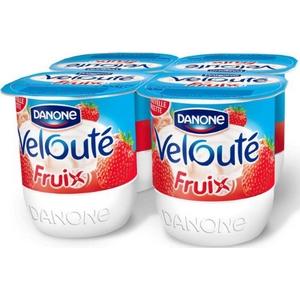 Danone velouté fruix fraise 4x125g