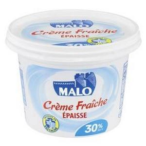 Crème fraîche épaisse Malo 30% m.g. 20cl