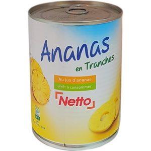 Netto ananas en tranches 580ml
