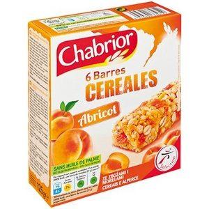 Chabrior 6 barres de céréales à l'abricot 125g