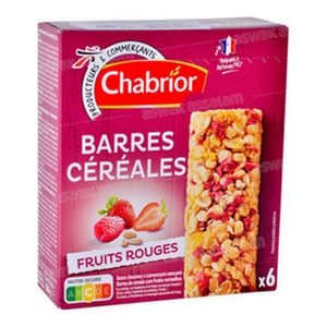Chabrior 6 barres de céréales aux fruits rouges 108g