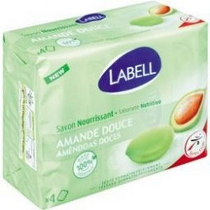 Labell savon nourrissant amande douce 4x100g