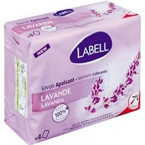 Labell savon apaisant lavande 4x100g