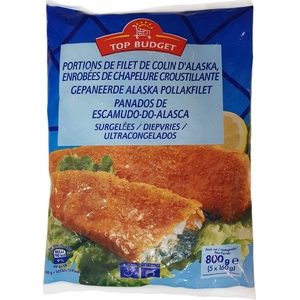 Top Budget filet pané de colin d'Alaska 800g