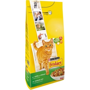 Friskies croquettes chat lapin, poulet et légumes 2kg