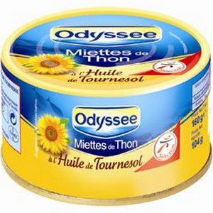 Odyssée thon entier l'huile de Tournessol 160g