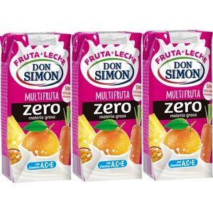 Boisson lactée Don Simon Multifruits 3x330ml