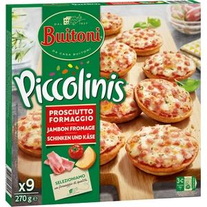 Buitoni mini pizza piccolinis jambon fromages x9, 270g