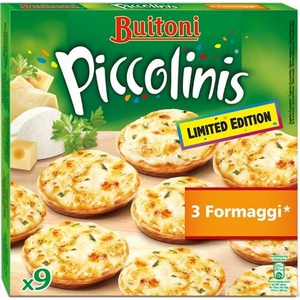 Buitoni mini pizza piccolinis 3 fromages x9, 270g