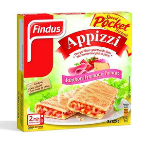 Findus Appizzi jambon fromage tomate 2X125g