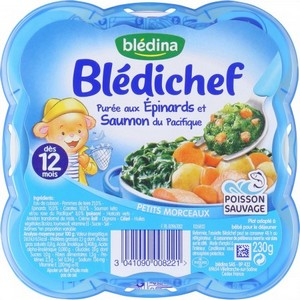 Blédichef purée aux épinards et saumon du pacifique dès 12 mois 230g