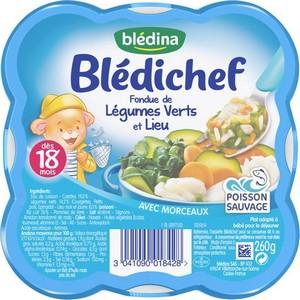 Blédichef fondue de légumes verts et lieu dès 18 mois 260g