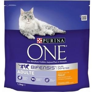 Purina One croquettes chat adulte, poulet et céréales complètes 1,5kg