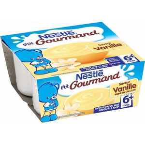 Nestlé p'tit gourmand vanille 6 mois plus 4x100g