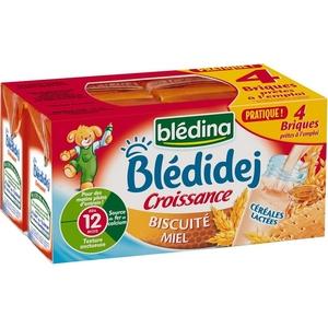 Blédidej biscuitée miel 4x250ml