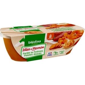 Blédina purée de potirons patates douces de 8 à 36 mois 2x200g