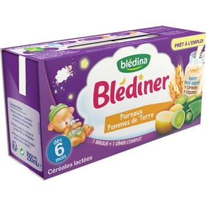 Blédiner poireaux pomme de terre dès 6 mois 2x250ml