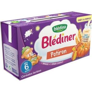 Blédiner potiron dès 6 mois 2x250ml