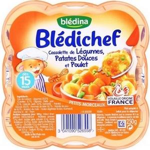 Blédichef mijoté de carottes et bœufs dès 12 mois 230g