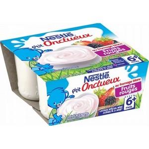 Nestlé p'tit onctueux fruits rouges 6 mois plus 4x100g