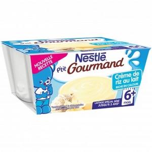 Nestlé p'tit gourmand crème de riz au lait 6  mois 4x100g